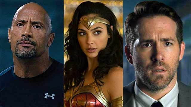 Ryan Reynolds, Gal Gadot y Dwayne Johnson en Red Notice